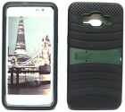 BLACK & ARMY GREEN U-Case Hybrid Cover Case for Samsung Galaxy Grand Prime