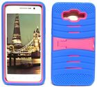 BLUE & HOT PINK U-Case Hybrid Cover Case for Samsung Galaxy Grand Prime