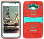 RED & TURQUOISE U-Case Hybrid Cover Case for Samsung Galaxy Grand Prime