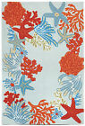 "AREA RUGS - ""CARIBBEAN BREEZE"" RUG - INDOOR OUTDOOR RUG"