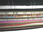 "Linen Viscose Rayon Solid Striped Fabric Width 40""-58"" Sample 94cm Quality"