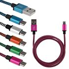 1M 2M 3M Micro USB Braided Aluminum Data&Sync Charger Cable For Android Phones