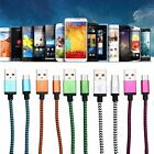 1/2/3M Strong Braided Micro USB Data Sync Charger Cable Lead for Android Phone