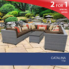 Catalina 11 Piece Outdoor Wicker Patio Furniture Set 11a 2 for 1