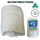 Made in Australia Quality Pure Cotton Mattress Protector - SINGLE or DOUBLE