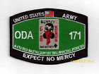ODA 171 MOUNTAIN Operational Det Alpha 171 HAT PATCH US ARMY VET Expect No Mercy