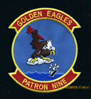 VP-9 PATRON GOLDEN EAGLES PATCH US NAVY VET PIN UP P-3 VIETNAM MCAS Kaneohe Bay