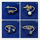 1Pc Open Adjustable Rhinestone Ring Bowknot Mask Flower Jewelry Gift Decoration