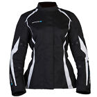 Spada Planet Waterproof Motorcycle Textile Jacket Black/White Ladies