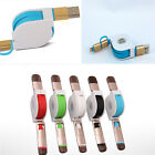 New Portable Retractable 2in1 Data Sync Cable USB Charger For iPhone 5 5S 6 6S