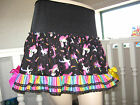 NEW CUTE Black Rainbow Unicorn striped Lace Skirt Festival Party Lolita Cosplay