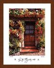 'FLOWER COTTAGE'French House floral garden art FRAMED PRINT-Dennis Barloga 26x32