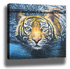 TIGER MODERN LONDON GRAFFITI STREET ART HIGH QUALITY MODERN CANVAS PRINT
