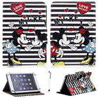 """Universal Disney Mickey Minnie Folio Leather Case Cover For 7"""" ~ 7.9"""" Tablet PC"""