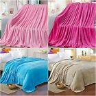 New Soft Warm Blankets Single Double Queen Solid Bed Throw Rug Flannel Bed Linen