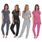 Ladies Womens Jersey Sweatshirt Joggers Lounge Pyjama Set Bottoms Nightwear
