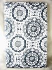 Assorted Sizes Gray /Silver & White Medallion Vinyl Tablecloth NEW FREE SHIPPING