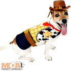 Woody Dog Fancy Dress Disney Toy Story Cowboy Pet Puppy Animal Costume Outfit