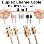 2 in 1 Micro USB Sync Lightning Data Charge Cable For iphone 6,Android Samsung