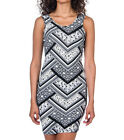 ESSENTIALS AZTEC PRINT STRETCH DRESS