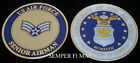 SENIOR AIRMAN US AIR FORCE CHALLENGE COIN RANK INSIGINA E-4 SRA PIN UP AFB GIFT
