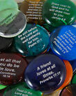 Colored Glass Imprinted Christian Scripture Stones