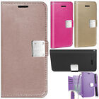 For LG K4 LTE / Spree Premium Leather Wallet Case Pouch Flip Cover +Screen Guard