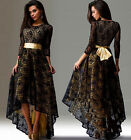 LL Full Length Elegant Party Cocktail Evening Women Lace Dress Sexy Slim Fit New