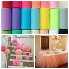 "6"" 25Y Tutu Tulle Roll Spool Gift Bow Fabric Craft Bridal Skirt Wedding Favours"
