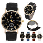 Fashion Men's New Watches Date Leather Analog Stainless Steel Quartz Wrist Watch