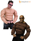 Mens Padded Muscle Top Adult Rambo Terminator Army Strongman Fancy Dress Costume