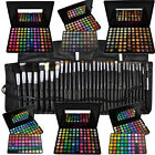 120 96 88 Lidschatten Palette Set + 16 32 Profi Kosmetik Pinsel Set Make UP