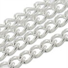 Gift Wholesale Cable Chains Links-Opened Silver Plated 5mmx3mm B29245