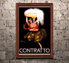 Contratto Champagne - Vintage Early 20th Century Advertisement/Poster
