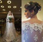 Charming Lace Wedding Dresse Bridal Gowns Off-the-shoulder Wedding Dress Custom