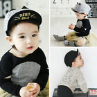 Fashion Kids Adjustable Baseball Cap Cat Printed Snapback Baby Boys Girls Hat
