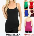 XL 1XL 2XL 3XL PLUS SIZE BASIC LAYERING LONG TANK TOP TUNIC NO BRA CAMI #5745