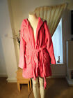 Primark    Ladies  Pink Hooded Robe/dressing Gown    Size  12/14