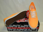 VANS AUTHENTIC LO PRO LACE UP TRAINERS. NEON ORANGE POP TEXTILE. BNIB