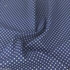 COPEN BLUE colour POLKA DOT 100% cotton fabric  per FQ, half metre or metre