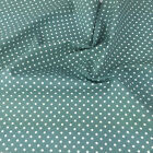 ICE GREEN colour POLKA DOT 100% cotton fabric  per FQ, half metre or metre