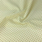 IVORY / TAN POLKA DOT 100% cotton fabric  per FQ, half metre or metre