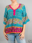 Tolani Gianna Blouse Top Tunic in Turquoise 9206