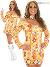 Ladies 70s Hippie Fancy Dress Adult 1970s Hippy Costume Womens Groovy Outfit