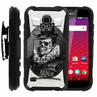 Huawei Union 538Y Black Hybrid Armor Case Clip Holster Cover Unique Designs