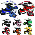 Childrens Kids Motocross HELMET GOGGLES GLOVES Pit Bike Quad Bmx ATV Off Road MX
