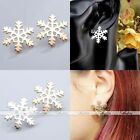 Fashion Ladies Women Gold Silver Snowflake Cuff Ear Jacket Stud Earrings Jewelry