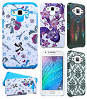 For Samsung Galaxy J7 HARD Hybrid Rubber Silicone Case Phone Cover +Screen Guard
