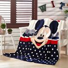 Mickey Minnie Mouse Soft Comforter Flannel Blankets Single Size Bed Cartoon New