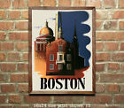 Boston - Vintage Travel Poster